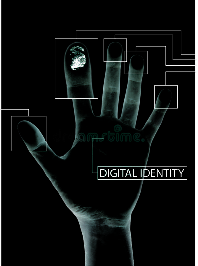 Digital security royalty free illustration