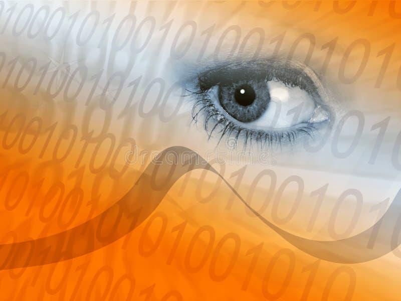 Digital signal eye graphic vector illustration