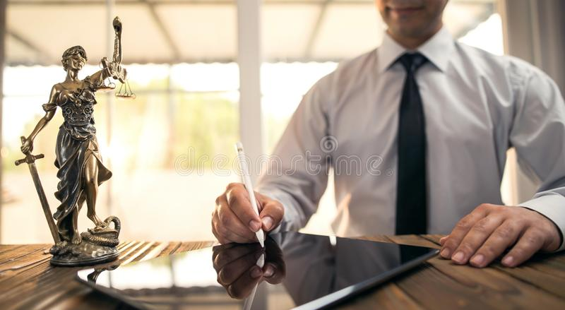 Digital Signature Concept with Tablet and Stylus. Pen stock images