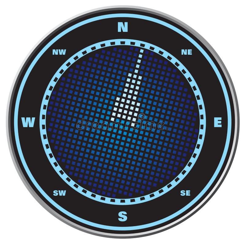 digital skärm för kompass stock illustrationer