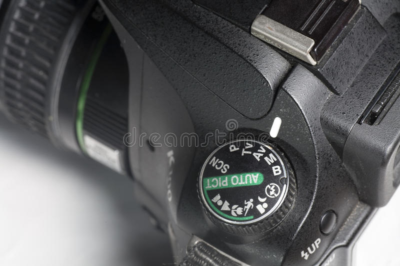 Digital SLR. A digital SLR with dial control royalty free stock photo
