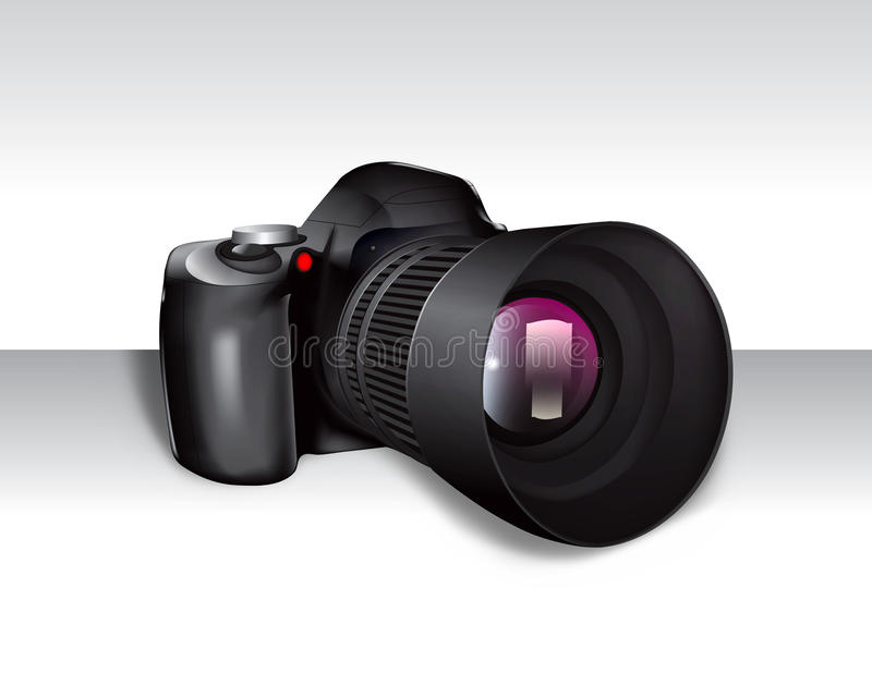 Download Digital SLR Camera stock illustration. Illustration of full - 21717610