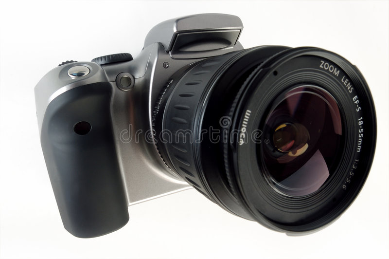 Download Digital SLR Camera With Attached Zoom Lens Stock Photography - Image: 1766932
