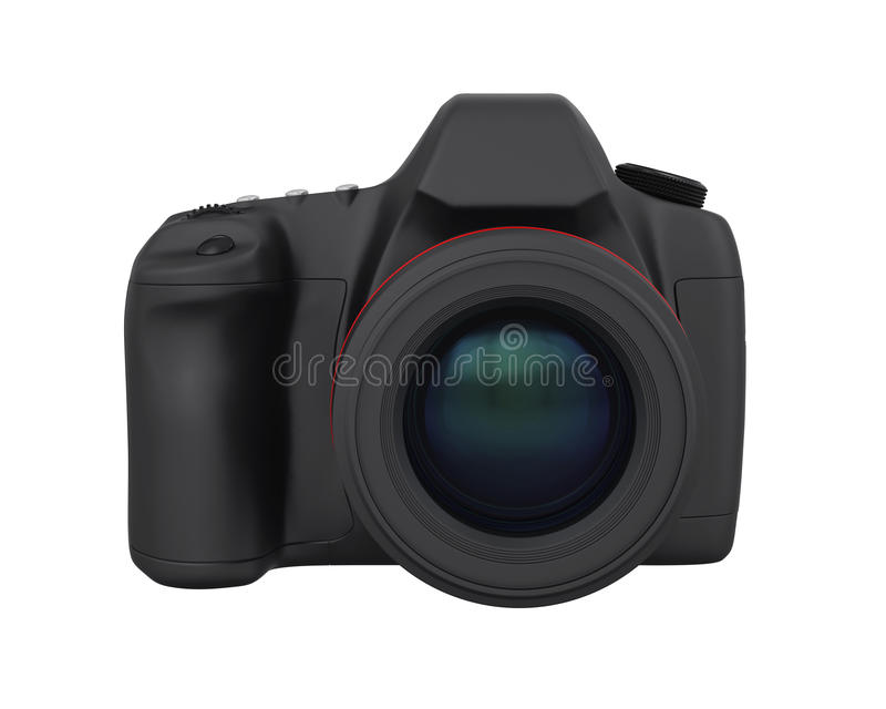 Digital SLR Camera Isolated. On white background. 3D render vector illustration
