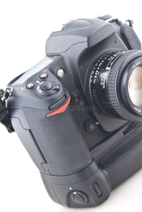Download Digital SLR on white stock image. Image of electronic - 4846105