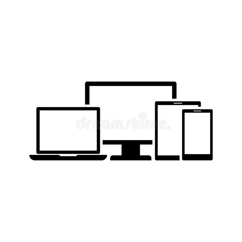 Digital smart devices icon flat vector illustration design. Isolated on white background royalty free illustration