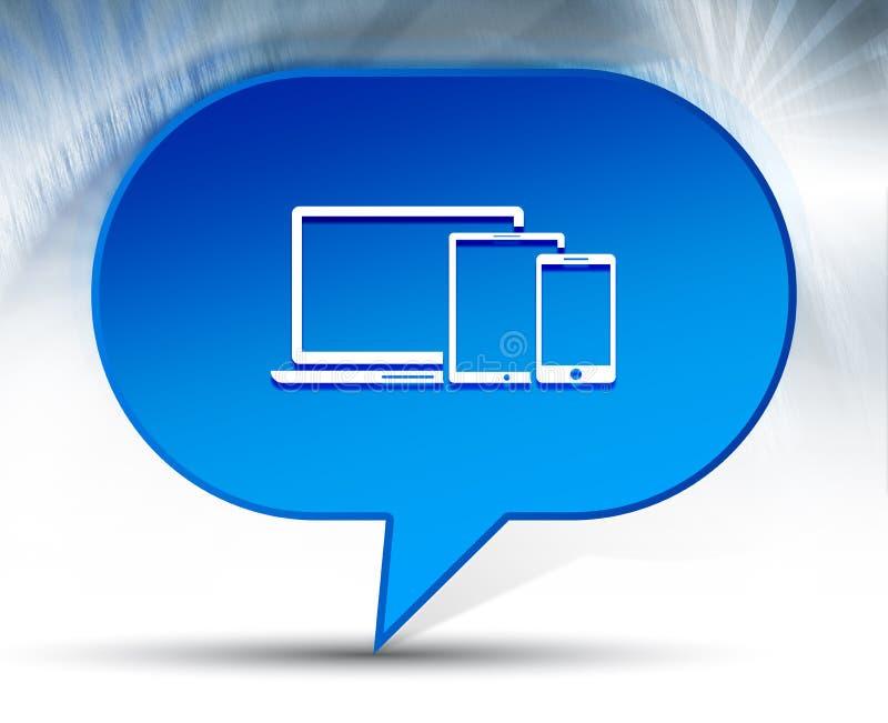 Digital smart devices icon blue bubble background. Digital smart devices icon isolated on blue bubble background vector illustration