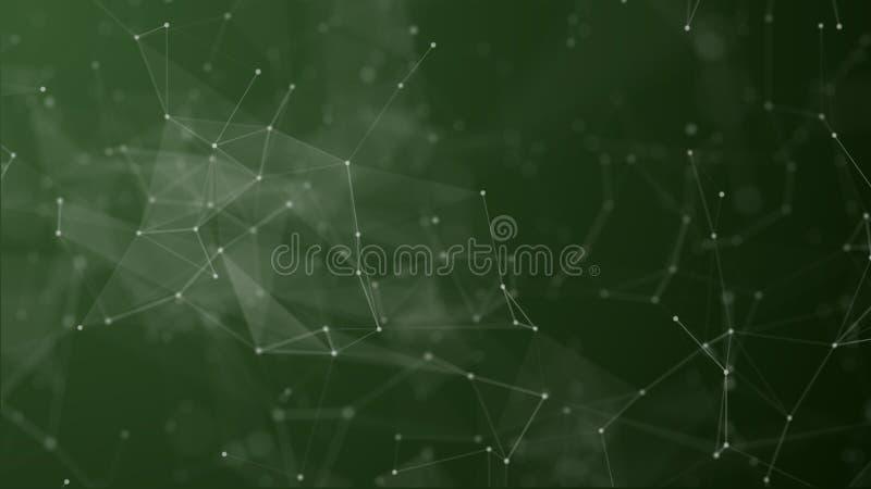 Digital som är futuristiska av pricken och linjen anslutning royaltyfri illustrationer