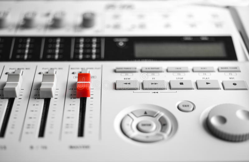 Digital sound blandare arkivbilder