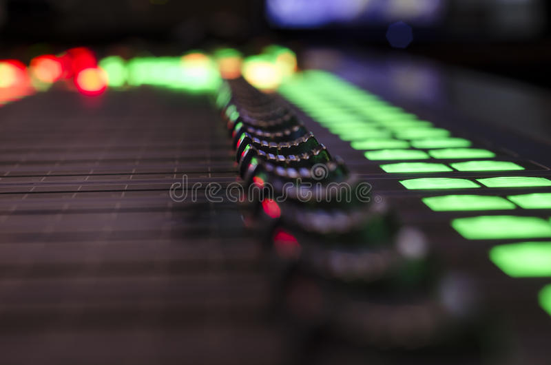Digital sound mixer royalty free stock images