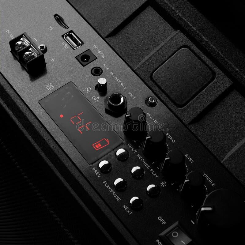 Digital Speaker Console stock images
