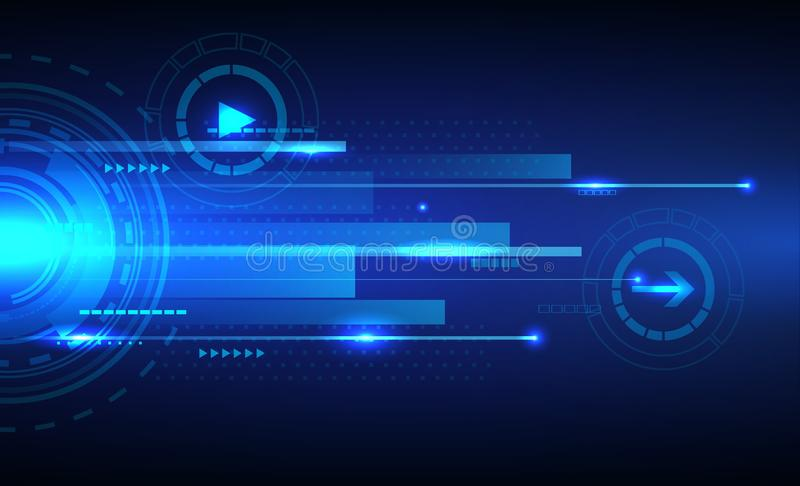 Digital speed technology abstract background. Illustration of Digital speed technology abstract background royalty free illustration