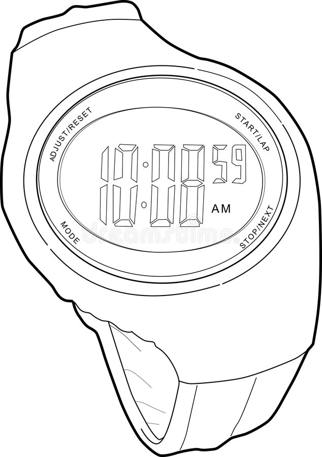 Digital Sports Watch Royalty Free Stock Images