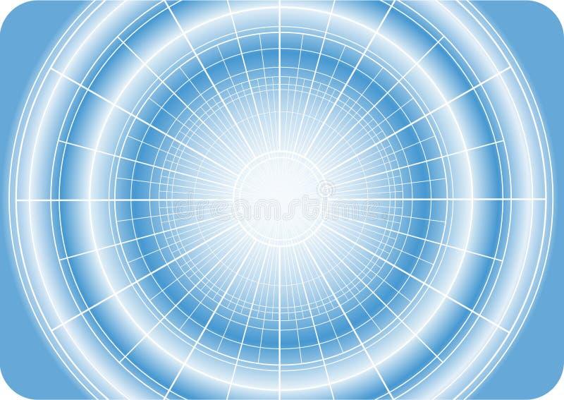 Digital-Stern mit Rasterfeld vektor abbildung