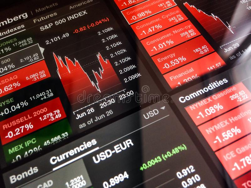 Digital stock market chart stock photos