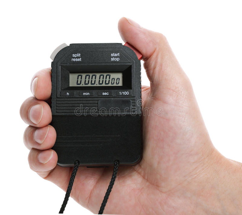 Digital stopwatch royalty free stock image