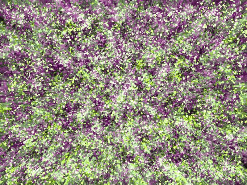 Digital storm of violet and green elements. Digital abstract background, violet-green color. The background allows to plunge into the world of virtual reality royalty free illustration