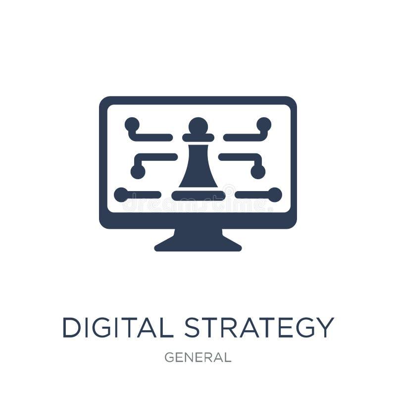 Digital strategisymbol Digital strategisymbol för moderiktig plan vektor vektor illustrationer
