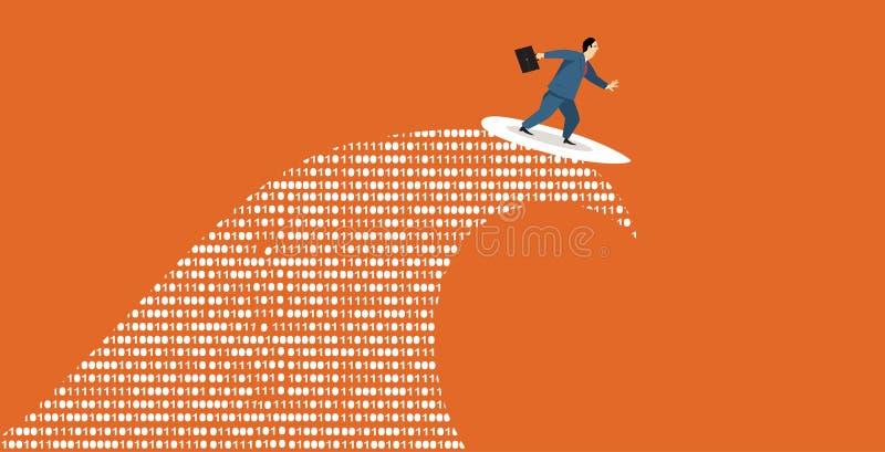 Digital-Surfer lizenzfreie abbildung