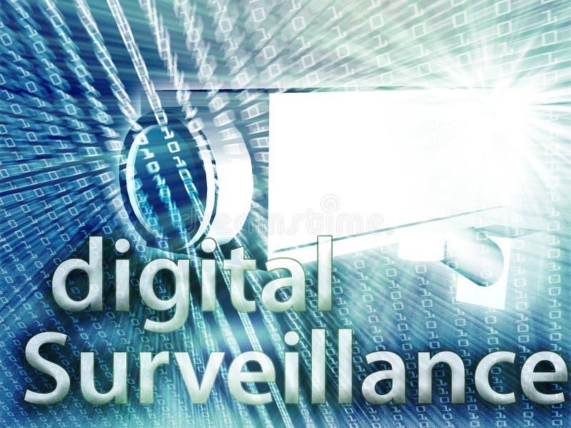 Digital surveillance royalty free illustration