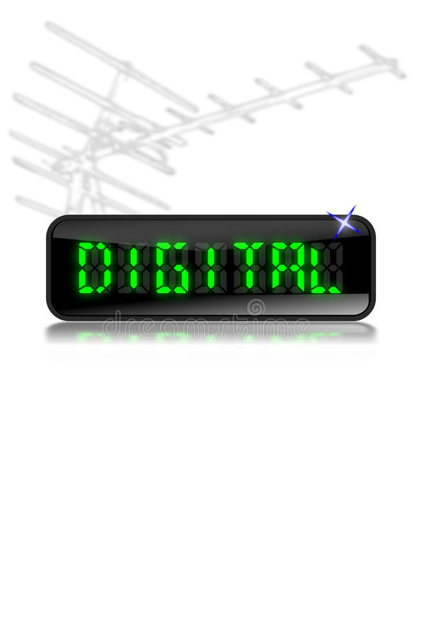 Digital Switchover lcd display aerial