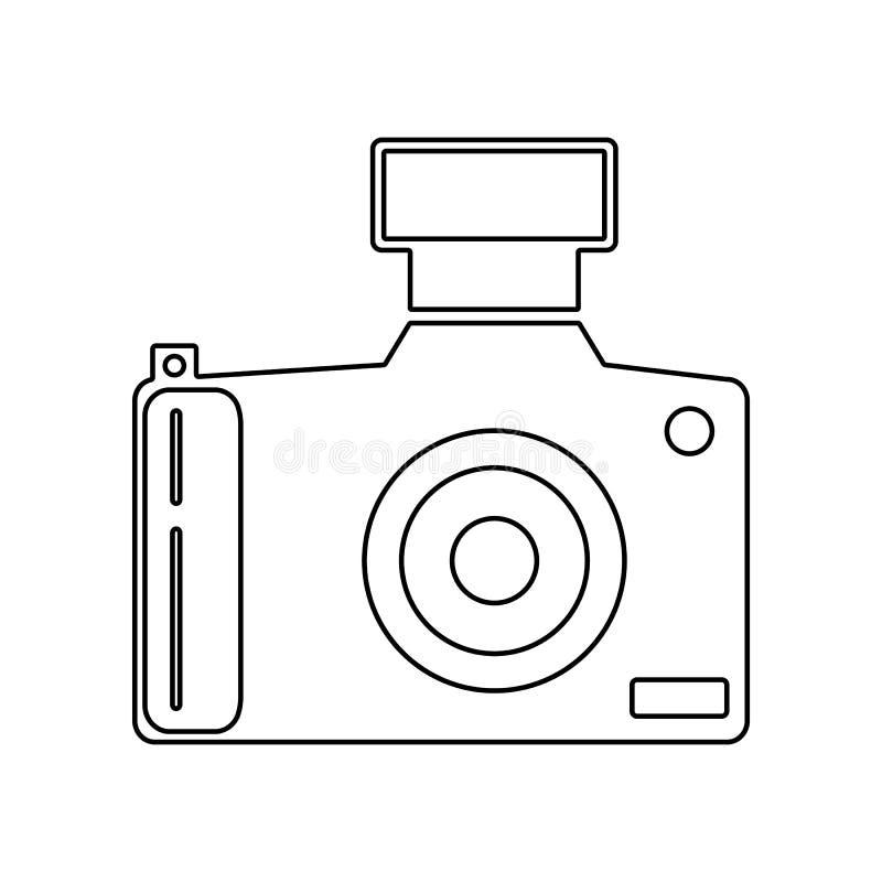 digital symbolsvektor f?r tillg?nglig kamera E ?versikt tunn linje symbol f?r website vektor illustrationer