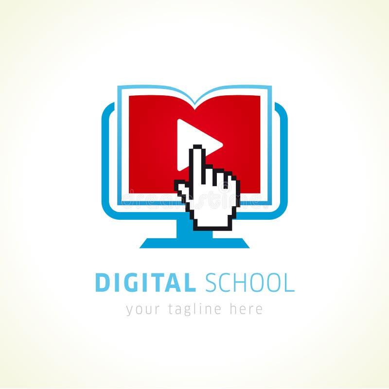 Digital szkolny online logo royalty ilustracja