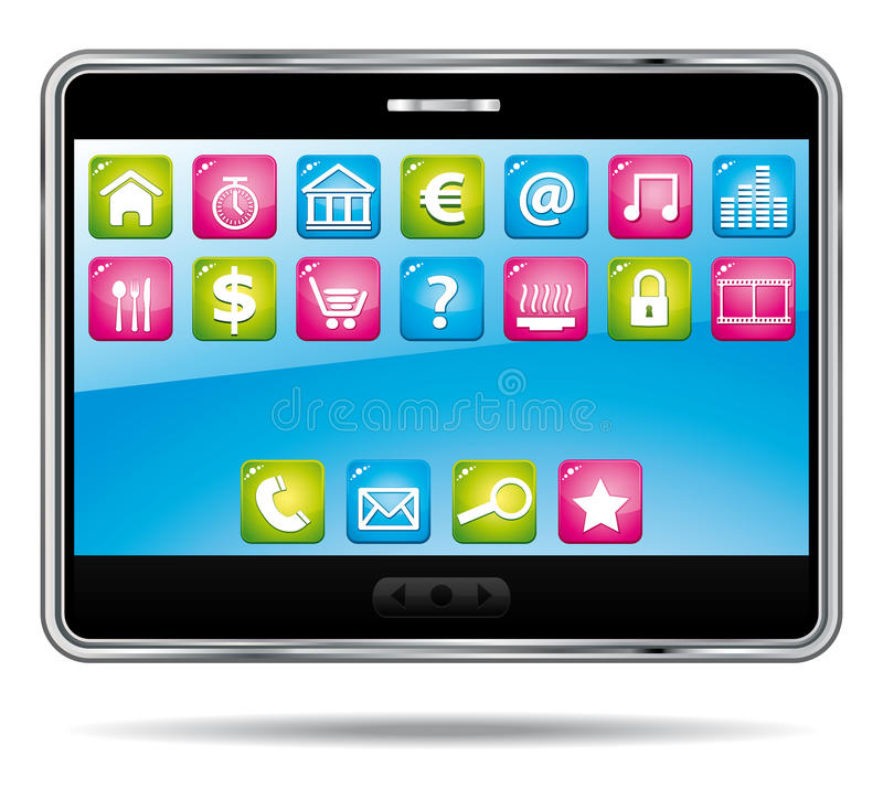Download Digital Tablet With Applications. Stock Photography - Image: 23056932