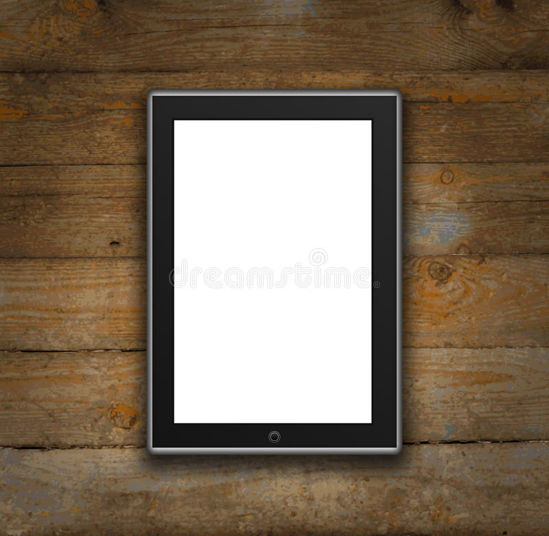 Digital tablet computer vector illustration