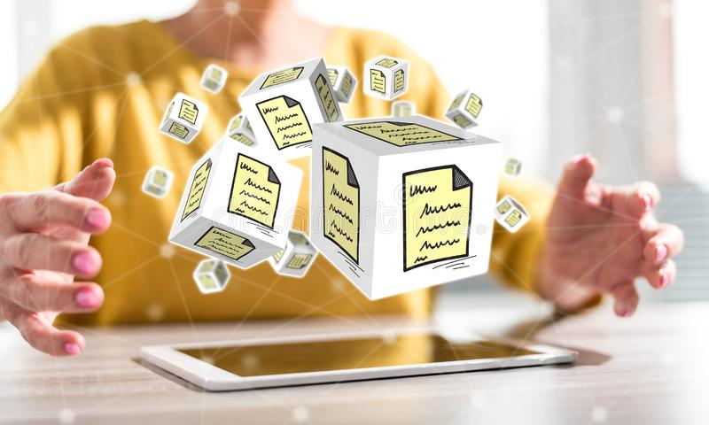 Concept of document royalty free stock photos