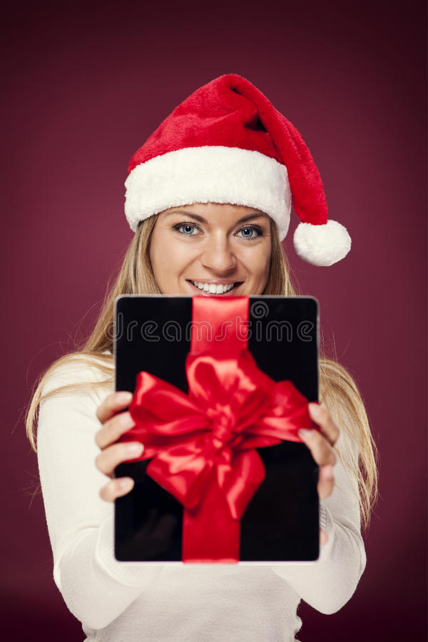 Digital Tablet Gift Royalty Free Stock Photography