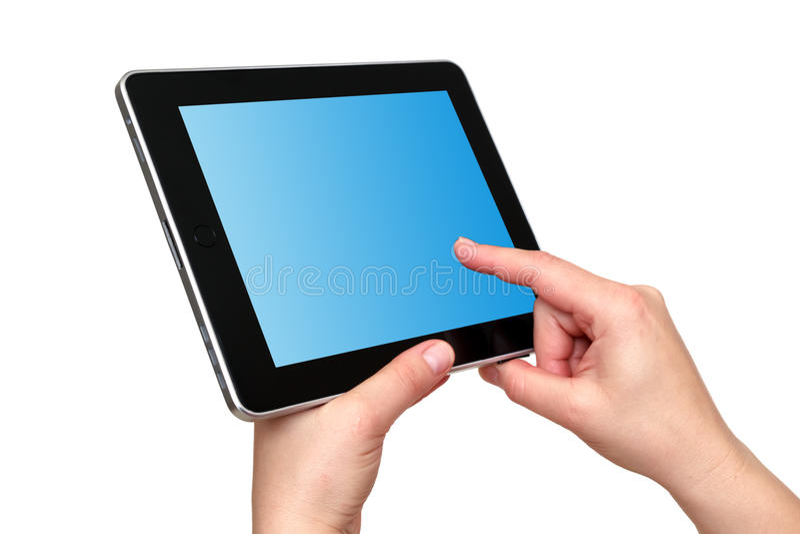 Digital tablet in hands stock photos