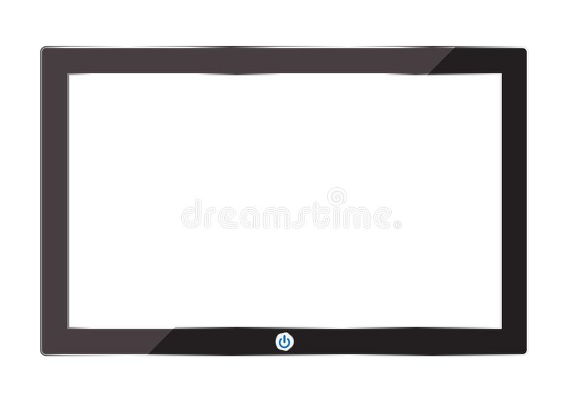 Digital tablet isolate on white background. Is a general illustration stock illustration