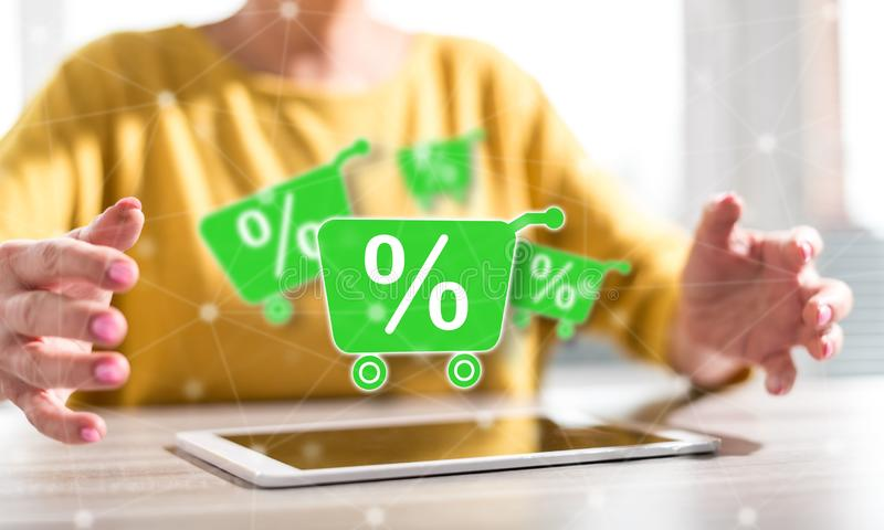 Concept of percent discount royalty free illustration