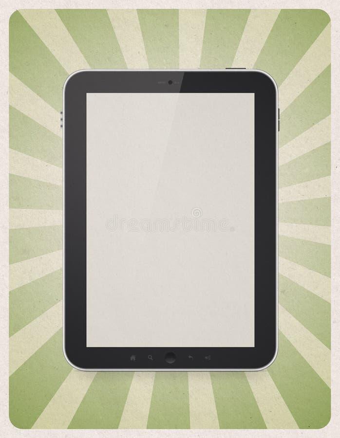 Download Digital Tablet On Retro Background Stock Illustration - Image: 30659720