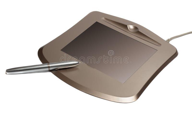 Digital-Tablette getrennt auf Weiß stockfotografie
