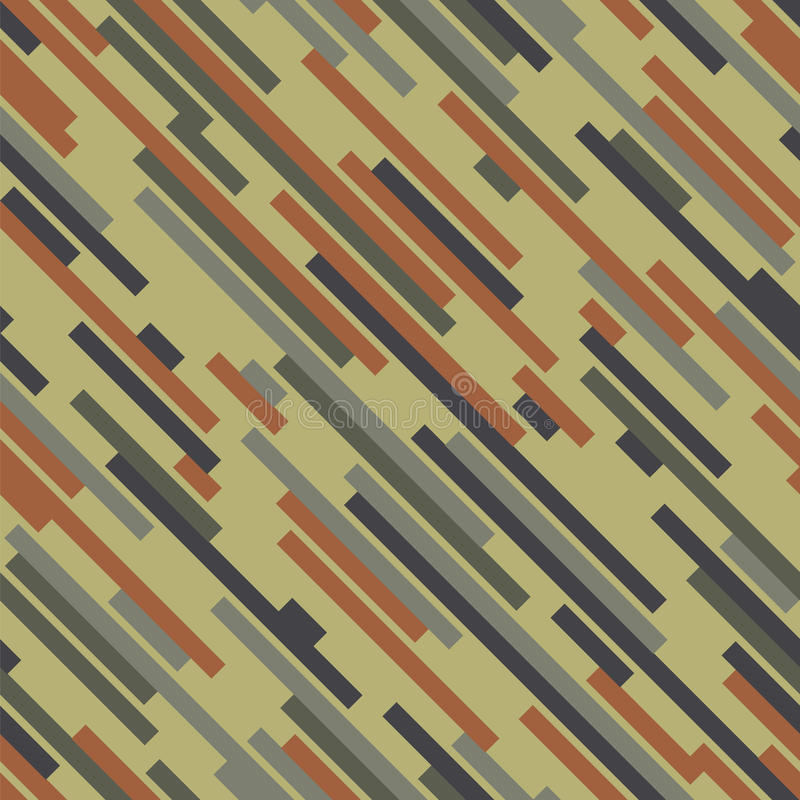 Digital-Tarnung Hölzerne Farbe Nahtloses vektormuster vektor abbildung