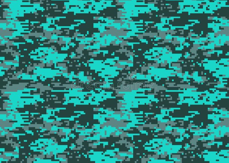 Digital-Tarnungsmuster Waldland-camo Beschaffenheit Tarnung p vektor abbildung
