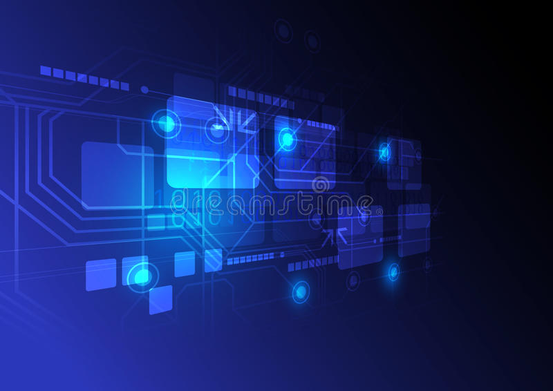 Download Digital Technology Concept Background Stock Vector - Illustration of position, technology: 26870118