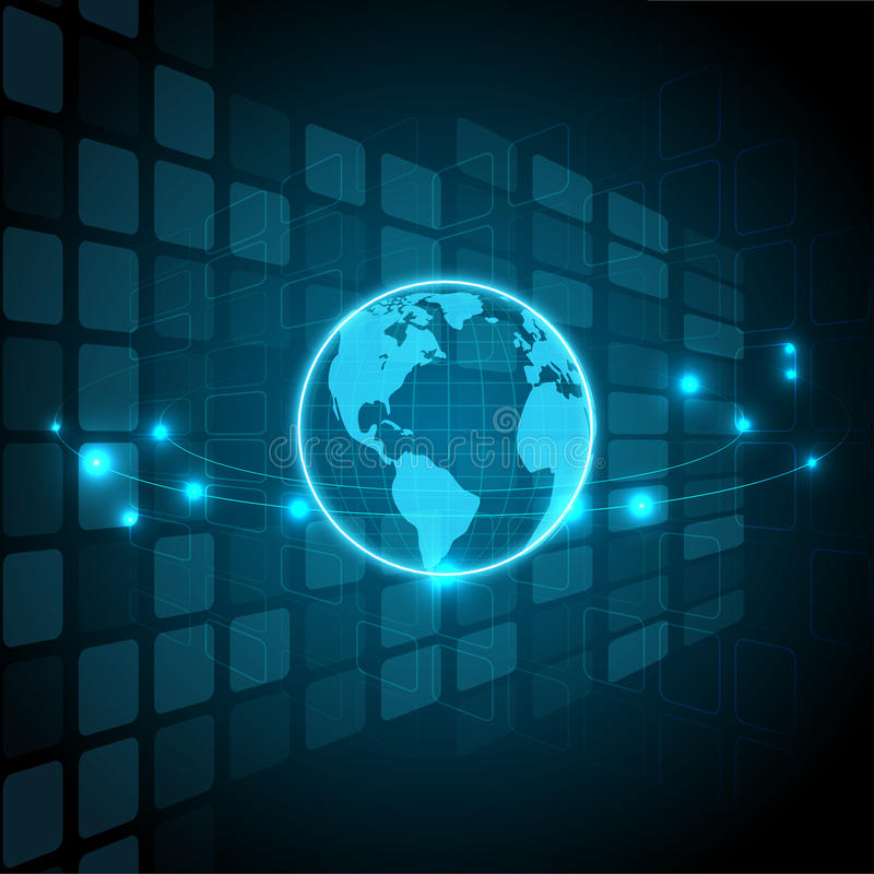Digital technology and globes, abstract backgrounds royalty free illustration