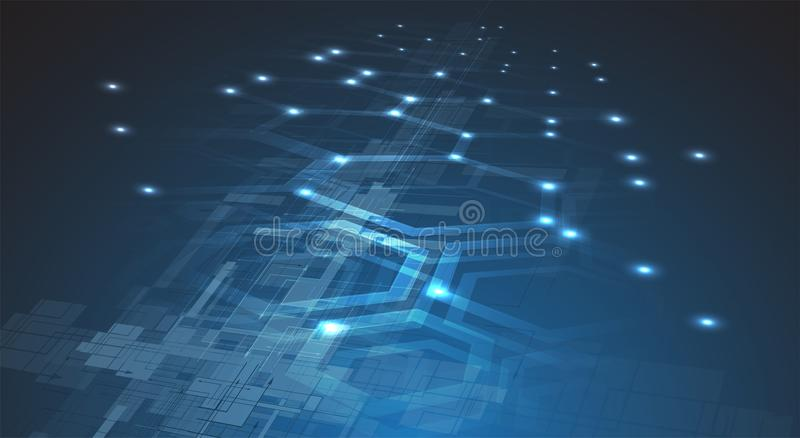 Digital technology world. Business virtual concept. Vector background royalty free illustration