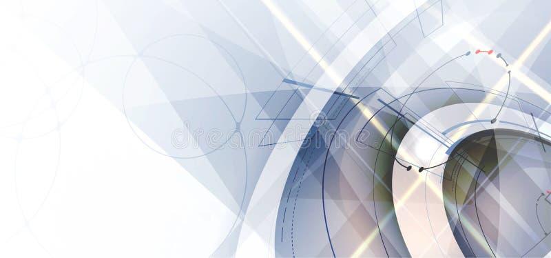 Digital technology world. Business virtual concept. Vector background stock illustration