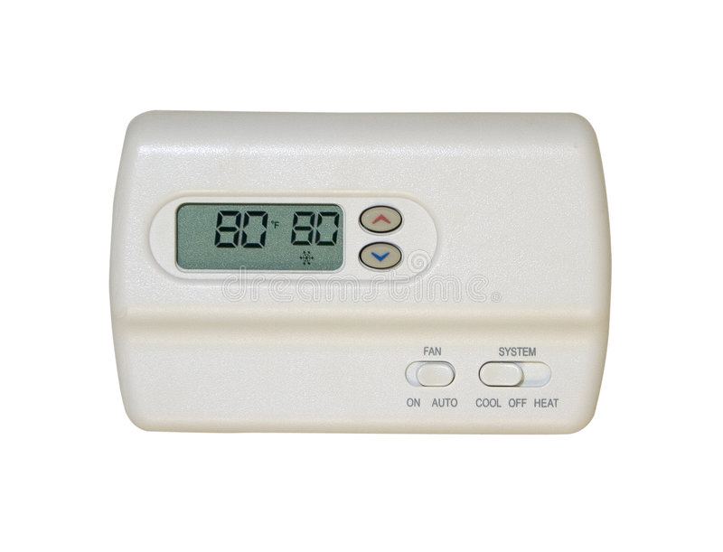 digital termostat royaltyfri bild