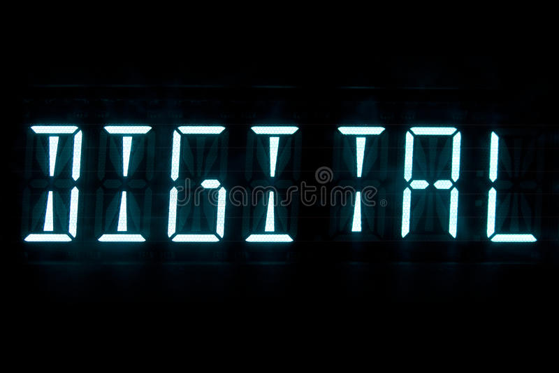 Digital text display royalty free stock photos
