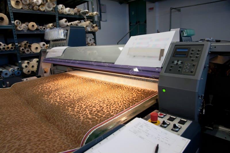 Digital-Textildrucken lizenzfreies stockbild