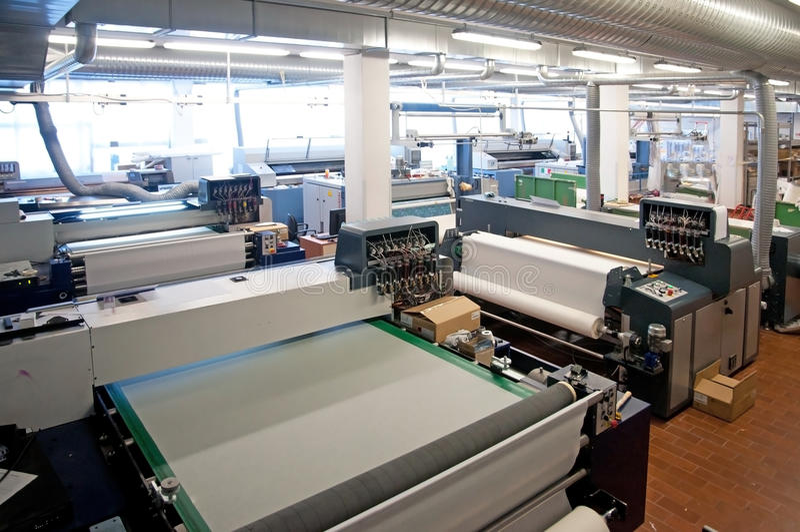 Digital-Textildrucken lizenzfreie stockfotos