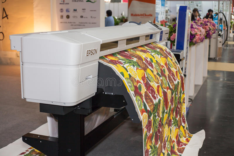 Digital textile printer editorial stock image  Image of
