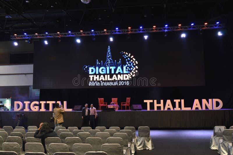 "Digital Thailand 2016. ""Digital Thailand"" on 26-28 May, 2016, 8:00 -19.00 hrs. At Queen Sirikit National Convention Center, Bangkok thailand royalty free stock image"