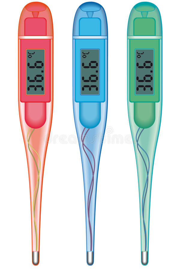 Digital-Thermometer stock abbildung