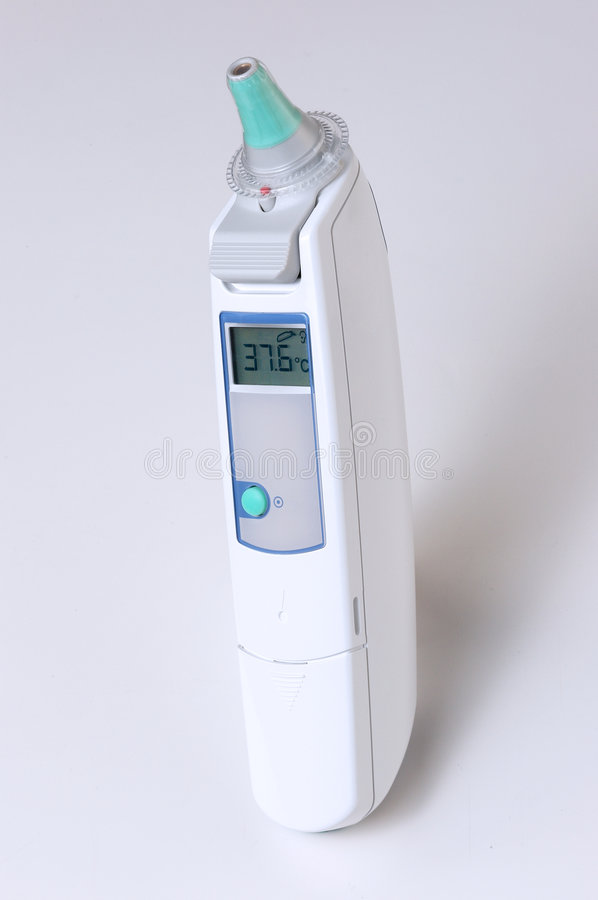 Digital thermometer stock image